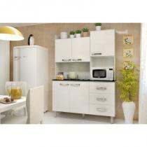 Kit Cozinha Compacta 05 Portas Cris Ártico/Branco - Luciane -