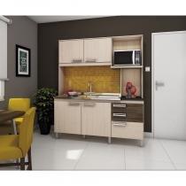 Kit Cozinha Compacta 108 Briz - Sem Tampo/Cuba - Fendi/Moka - Henn