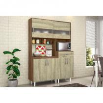 Kit Cozinha Compacta Carol Terraro/Carvalho - MoveMax -