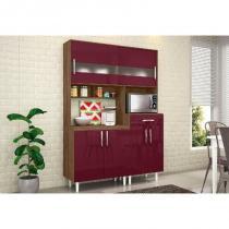 Kit Cozinha Compacta Carol Terraro/Fucsia - MoveMax -
