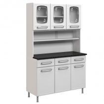 Kit Cozinha Compacta Evidence Aço 4127 6 Portas Branco - Bertolini -