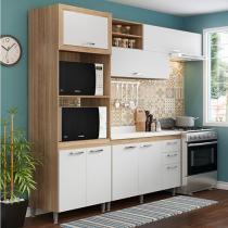 Kit Cozinha Completa Multimóveis Toscana - 7 Portas 3 Gavetas