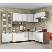 Kit Cozinha Completa Multimóveis Toscana - com Balcão 16 Portas 3 Gavetas