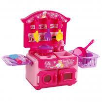 Kit Cozinha Fashion Barbie Chef 2122 - Lider - Lider Brinquedos