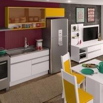 Kit Cozinha Glamy Carol com Nicho - 4 Portas 2 Gavetas