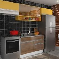 Kit Cozinha Glamy Marina com Nicho - 5 Portas 2 Gavetas