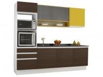 Kit Cozinha Madesa Glamy Colors - 7 Portas 3 Gavetas