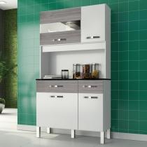 Kit cozinha margarida - branco-cinza grigio - mobini -