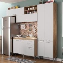 Kit Cozinha Multimóveis Toscana 5056.132.131 - 8 Portas 3 Gavetas