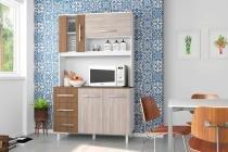 Kit Cozinha Prisma 1200 Plus Branco com Elmo e  Montana - Madine Móveis -