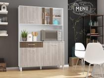 Kit Cozinha Viena Plus 1200 Branco com Elmo e Montana - Madine Móveis -