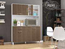 Kit Cozinha Viena Plus 1200 Branco com Montana - Madine Móveis -
