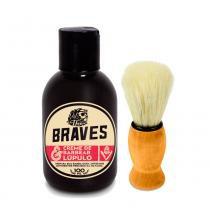 Kit Creme de Barbear  Lúpulo + Pincel para Barba The Braves - The Braves