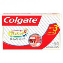 Kit Creme Dental Colgate Total 12 Clean Mint 70g Leve 3 Pague 2 -