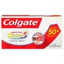 Kit Creme Dental Colgate Total 12 Clean Mint 90g 2 Unidades -