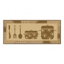Kit De 3 Tapetes Sonho Para Cozinha Sisal Panela Caramelo -