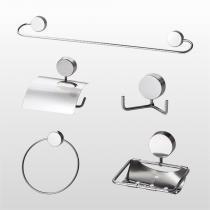Kit De Acessórios Para Banheiro Light 5 Peças Cromado Kelly Metais - KELLY METAIS