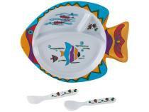 Kit de Alimentação Infantil 3 Peças Baby Style - Oceano