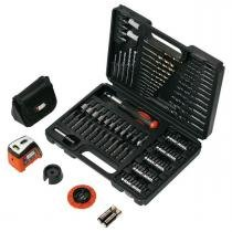 Kit de Brocas com 115 peças A7132LA Black  Decker - Black and decker