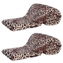 Kit de Cobertores Casal Padrão Manta de Microfibra Safari 02 Peças (Toque Aveludado) - Cor 03 Caqui - Guilherme Enxovais