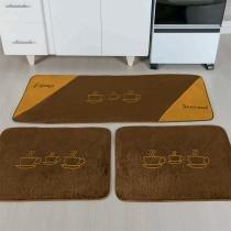 Kit de cozinha 3 peças xicaras cafe - Dourados enxovais