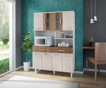 Kit de Cozinha Atenas 8 portas Branco Elmo Montana - Madine Móveis -