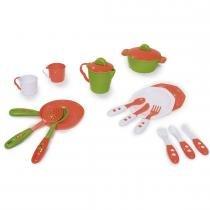 Kit de Cozinha Completo Unissex Laranja/Verde 334 - Calesita - Calesita