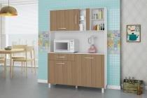 Kit de Cozinha Viena 1200 Branco Montana - Madine Móveis -