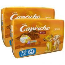 Kit de Fraldas Capricho Disney O Rei Leão Tam M - 140 Unidades