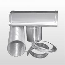 Kit De Instalação Para Aquecedor a Gás 100mm x 1,5mt Alumínio Mosal - MOSAL