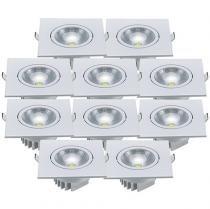 Kit de Lâmpadas Spot LED 5W Luz Branca - Ecoforce 17350 - 10 Peças