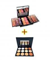 Kit de Maquiagem Studio Pro Compact - L967 + Paleta de Correção e Contorno Charmy Luisance L783 -