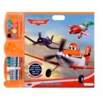 Kit de pintura infantil aviões desenhos colorir multikids - Multilaser