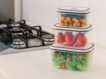 Kit de Potes Quadrado 10 Peças+Panela de Cozimento - a Vapor Electrolux para Micro-ondas 25cm