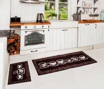 Kit de tapetes para cozinha 3 pçs - Camesa