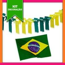 Kit Decoração de Rua 10 itens Brasil Modelo 1 - Festabox