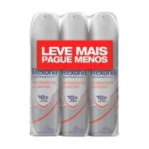 Kit Desodorante Aerosol Rexona Bacterial Protection Feminino 90g 3 Unidades - REXONA