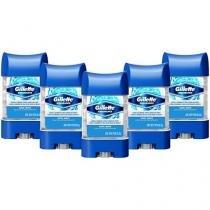 Kit Desodorante Antitranspirante Masculino Gillett - Endurance Cool Wave 82g 5 Unidades