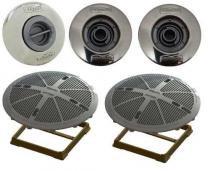 Kit Dispositivo Para Piscinas de Alvenaria Pratic Sodramar, 01 Aspiração, 02 Retornos e 02 Drenos de Fundo FSB - Sodramar