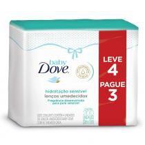 Kit Dove Baby Lenços Umedecidos Hidratação Sensível 200 Unidades - DOVE