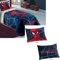 Kit Edredom Spider Man Homem Aranha Lepper Infantil + Fronha -