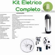 Kit Elétrico 350 W Bicicleta - Bateria Litio Para Freio Disco - TecBike