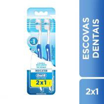 Kit Escova Dental Oral-B Indicator Plus 40 2 Unidades -
