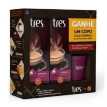 Kit Espresso Vibrante + Copo Colecionável 50ml - Três corações