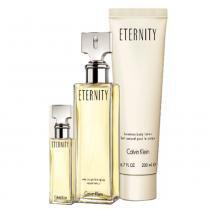 Kit Eternity Calvin Klein - Feminino - Eau de Parfum - Perfume + Miniatura + Loção Corporal - Calvin Klein
