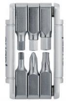 Kit ferramenta fabric 6 in1 mini tool prata -
