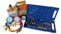 Kit Ferramentas para Refrigeração com Bomba Vácuo 5 Cfm Suryha Duplo Estágio + Manifold Vulkan R-22, R-134, R-12, R-404 + Kit Flangeador e Alargador com Cortador de Tubos e Catraca Vulcan VLCH-278L - Suryha e Vulkan