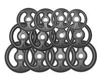 Kit Fitness com Anilhas de Ferro Fundido 40kg com Pegada - Sepo - pesos