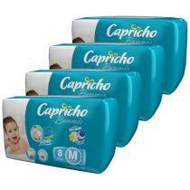 Kit Fraldas Capricho Bummis Tam M 4 Pacotes - com 8 Unidades Cada Tecnologia Respirável