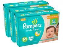 Kit Fraldas Pampers Confort Sec Tam. M - Extra Sec Pods 3 Pacotes com 44 Unidades Cada